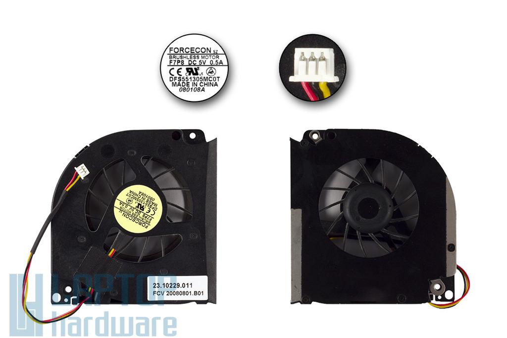 Acer Aspire 5930, 5930G használt laptop hűtő ventilátor, Forcecon, 23.10229.001