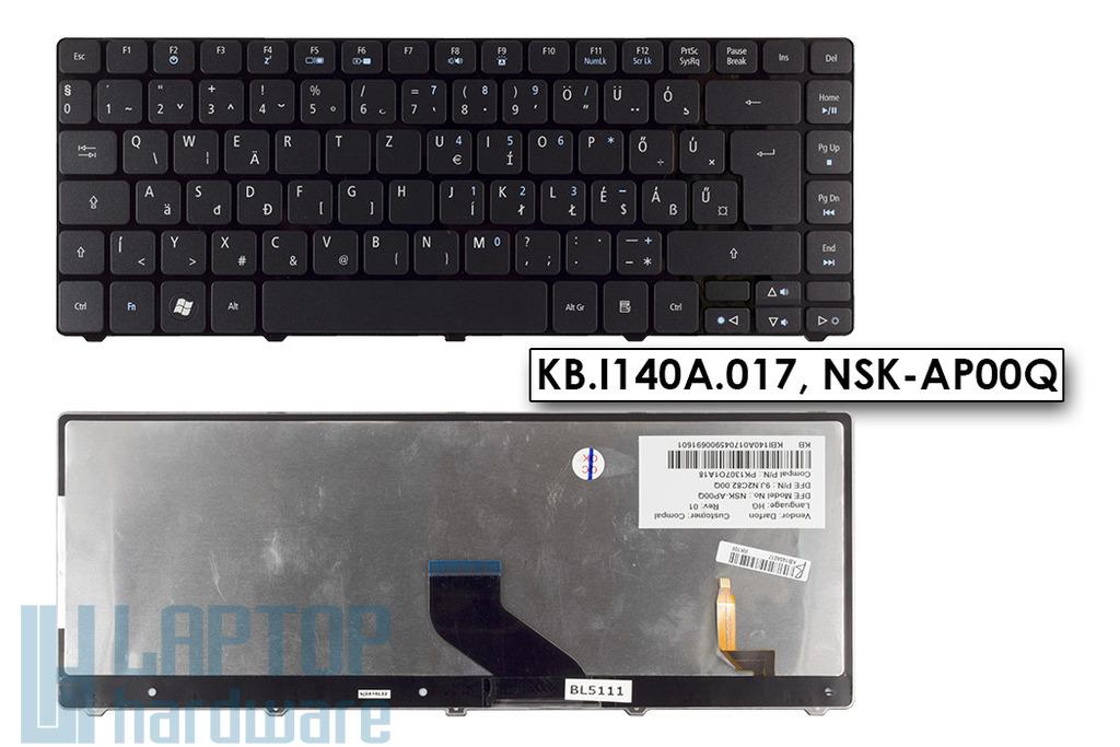 Acer Aspire 3410T, 4410T, 5942G gyári új háttér-világításos magyar laptop billentyűzet (KB.I140A.017)