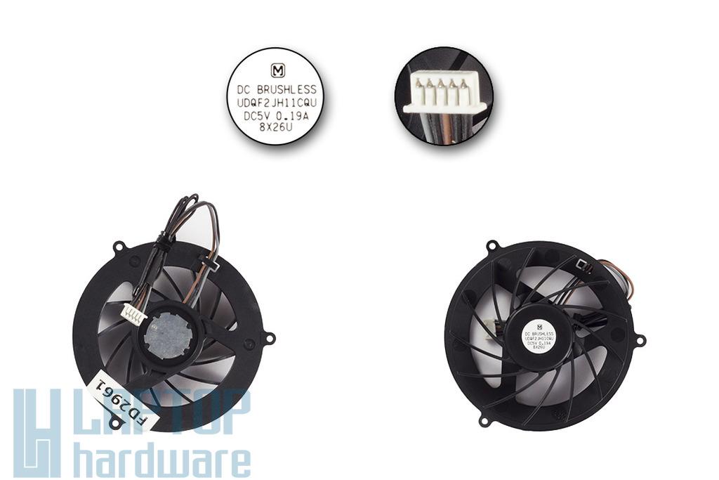 Acer Aspire 6930, 6930G gyári új laptop hűtő ventilátor (UDQF2JH11CQU)