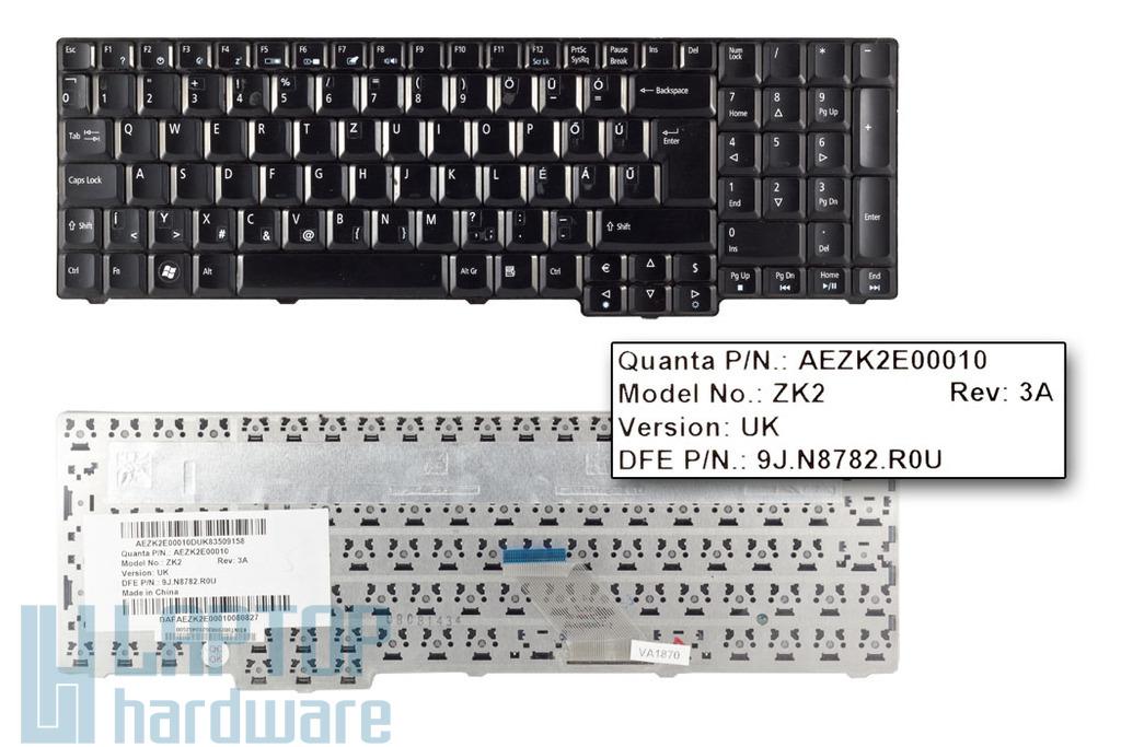 Acer Aspire 6930, 6930G UK magyarított fényes fekete billentyűzet