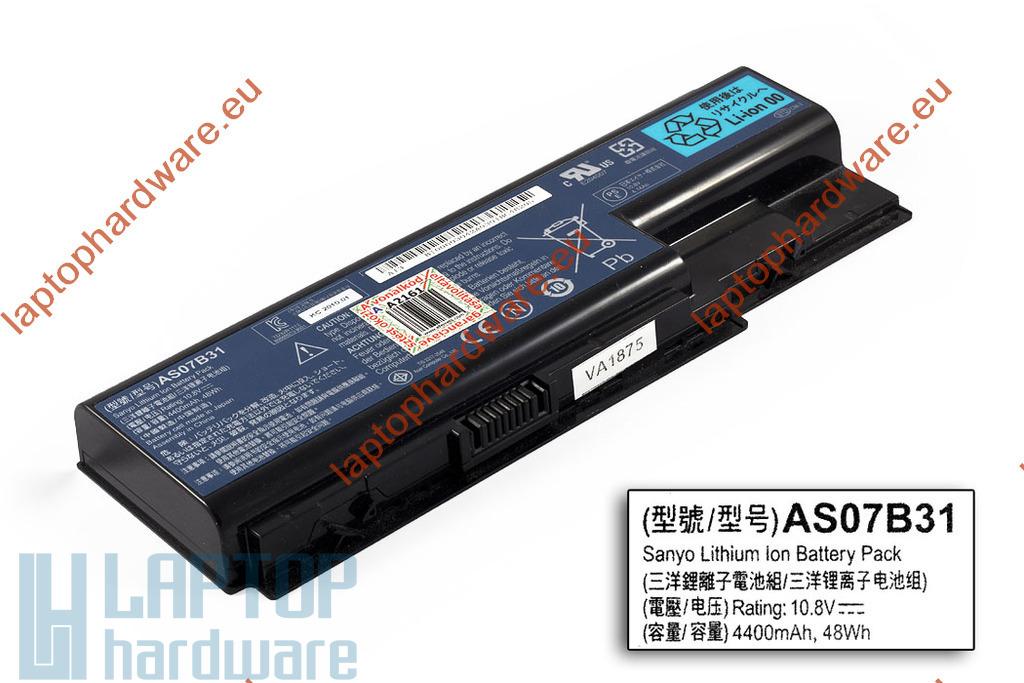 Acer Aspire 5310, 5520, 6930 használt 6 cellás 25%-os laptop akku/akkumulátor (AS07B31)