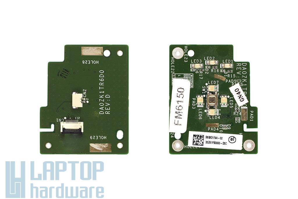 Acer Aspire 6930 bekapcsoló panel kábellel, power button board with cable, DA0ZK1TR6D0