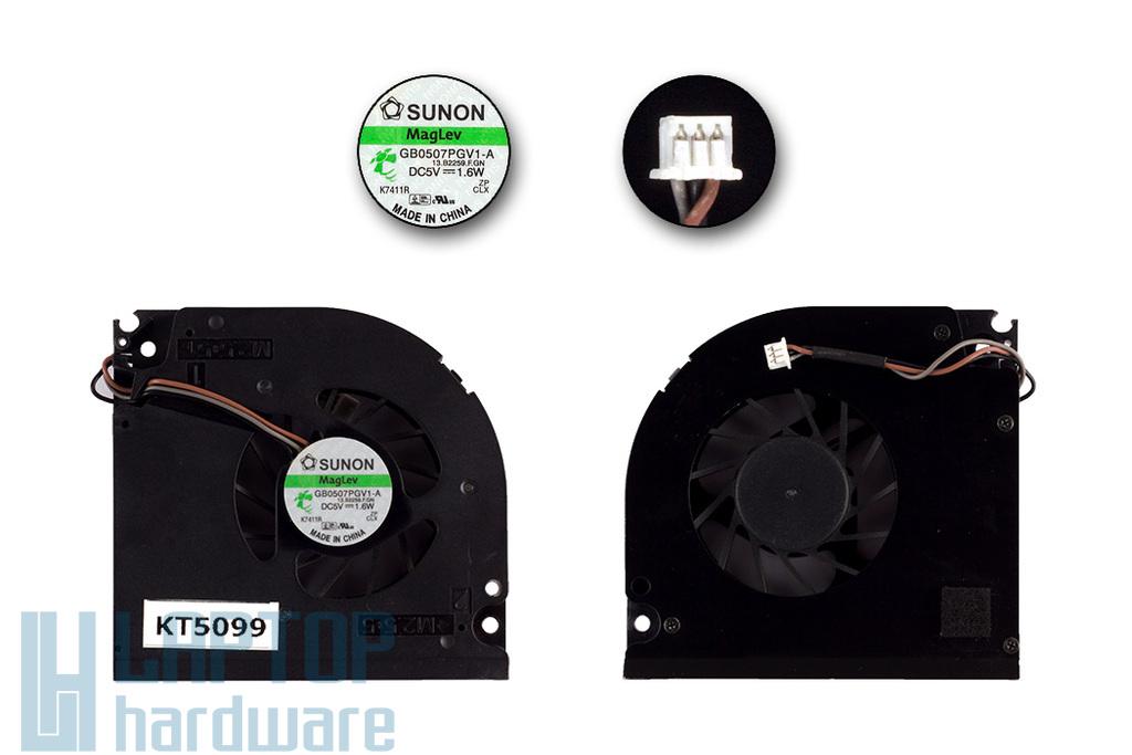 Acer Aspire 7100, 7110, 9300, 9304, 9400, 9410 laptophoz használt hűtő ventilátor