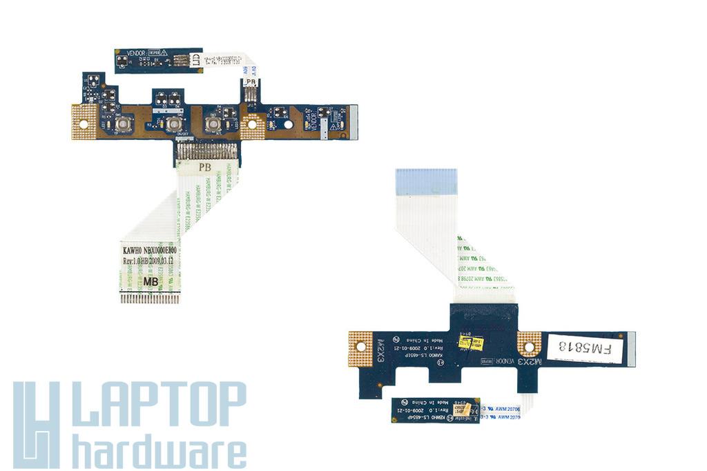 Acer Aspire 7715 és Emachines G725 használt bekapcsoló panel, power button board, LS-4851P
