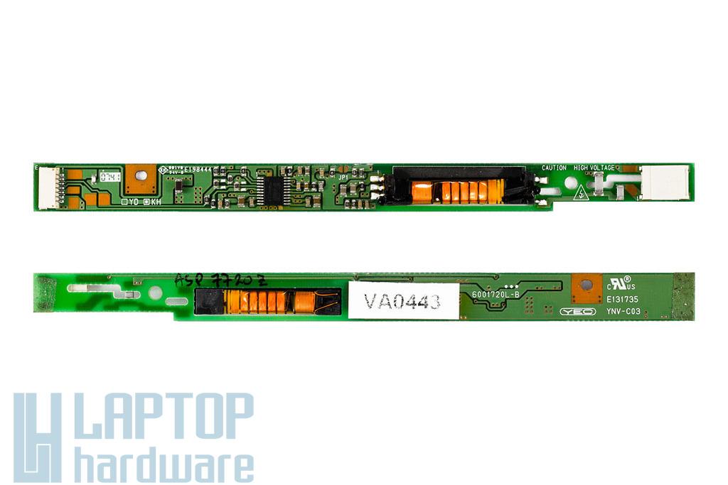 HP Pavilion DV8000 laptophoz használt LCD Inverter, (YNV-C03)