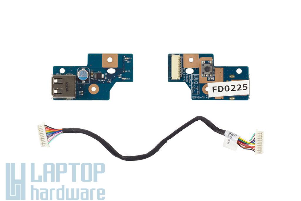 Acer Aspire 7740 laptophoz használt USB panel kábellel (48.4FX02.011)