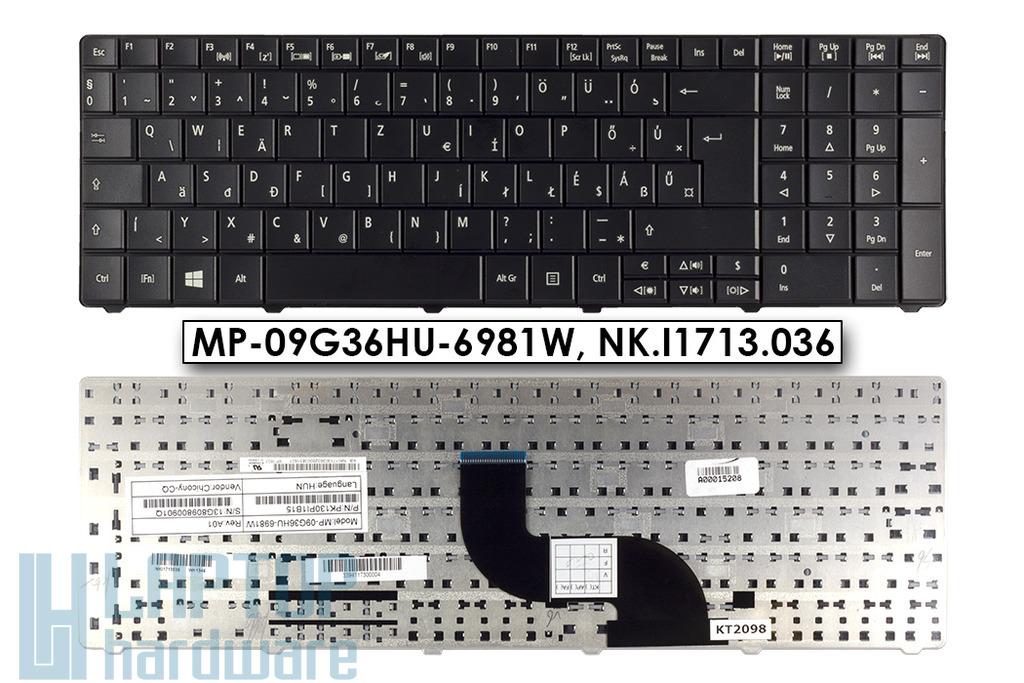 Acer Aspire E1-531, E1-571 gyári új magyar fekete laptop billentyűzet (Win8) (MP-09G36HU-6981W, NK.I1713.036)