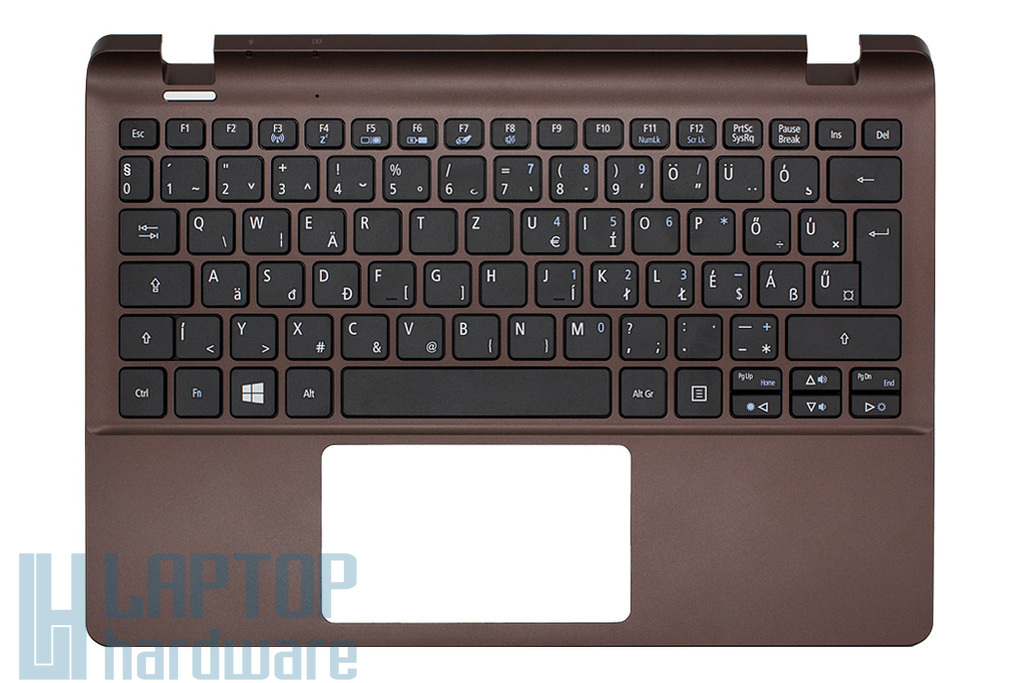 Acer Aspire E3-111, V3-111P gyári új magyar barna laptop billentyűzet modul (60.MQCN7.014)