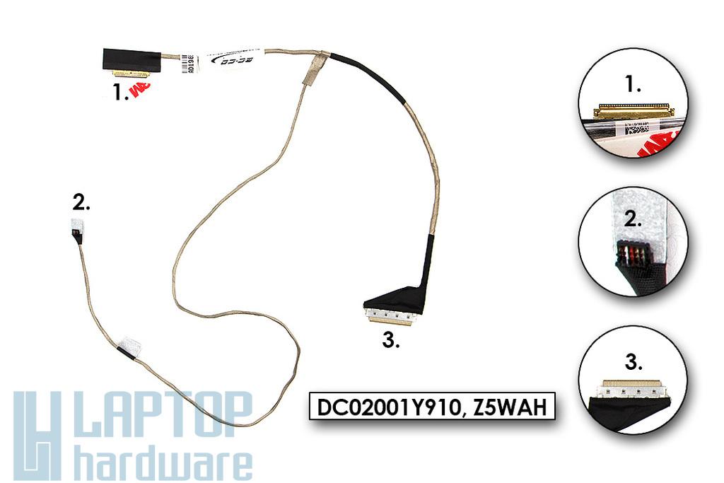 Acer Aspire E5-511G, E5-572G, P256-MG gyári új laptop LCD kijelző kábel (discrete) (50.MNSN2.002)