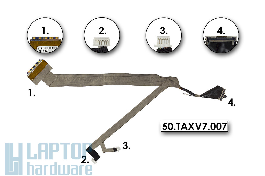 Acer Aspire Ferrari 5005,Travelmate 8210 gyári új laptop kijelző kábel (FOXDD0ZC1LC003080228), 50.TAXV7.007