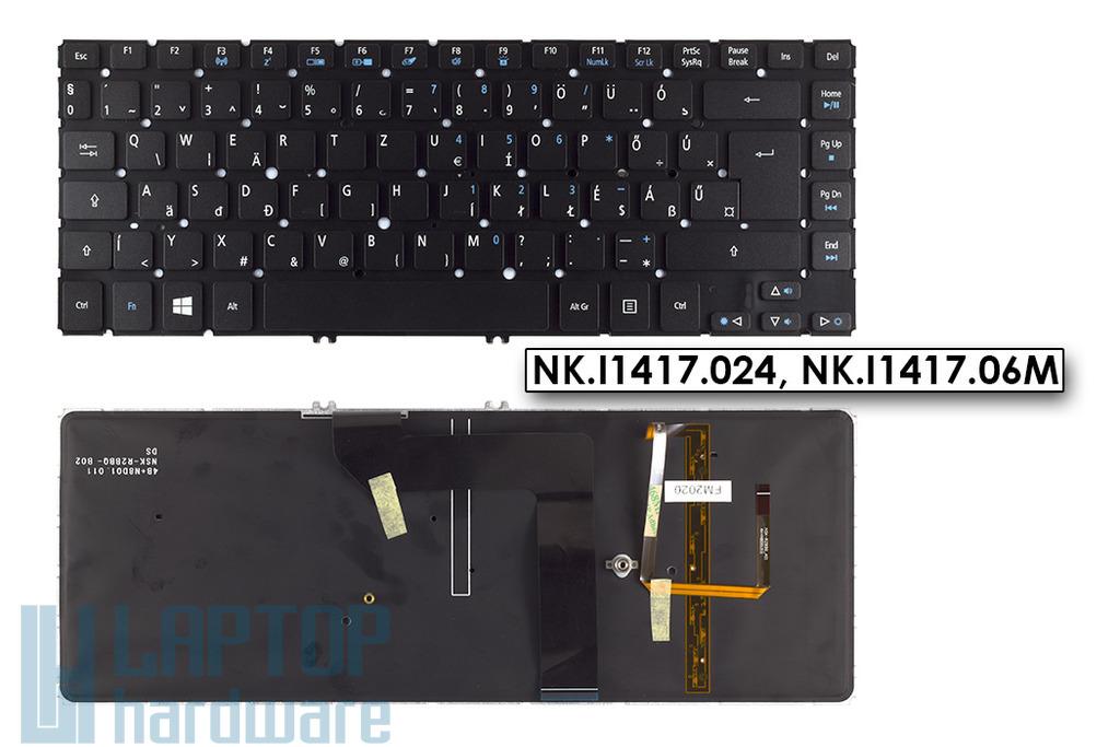 Acer Aspire  M5-481TG háttér-világításos laptop billentyűzet, NK.I1417.024, NK.I1417.06M