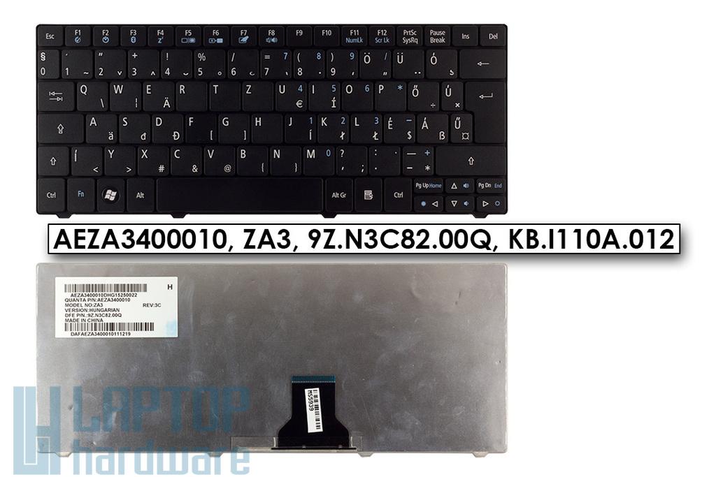 Acer Aspire ONE 722, 751, ZA3 gyári új magyar fekete laptop billentyűzet (AEZA3400010)
