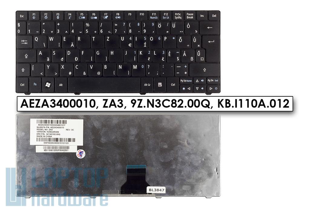 Acer Aspire ONE 751, ZA3 használt fekete magyar notebook billentyűzet