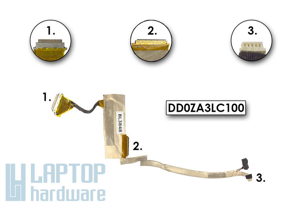 Acer Aspire One 751H, ZA3 laptophoz használt LCD kijelző kábel (DD0ZA3LC100)