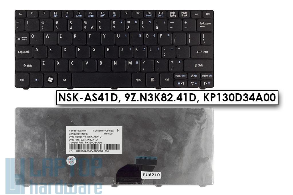 Acer Aspire One A532h, D255, D260 angol fekete billentyűzet