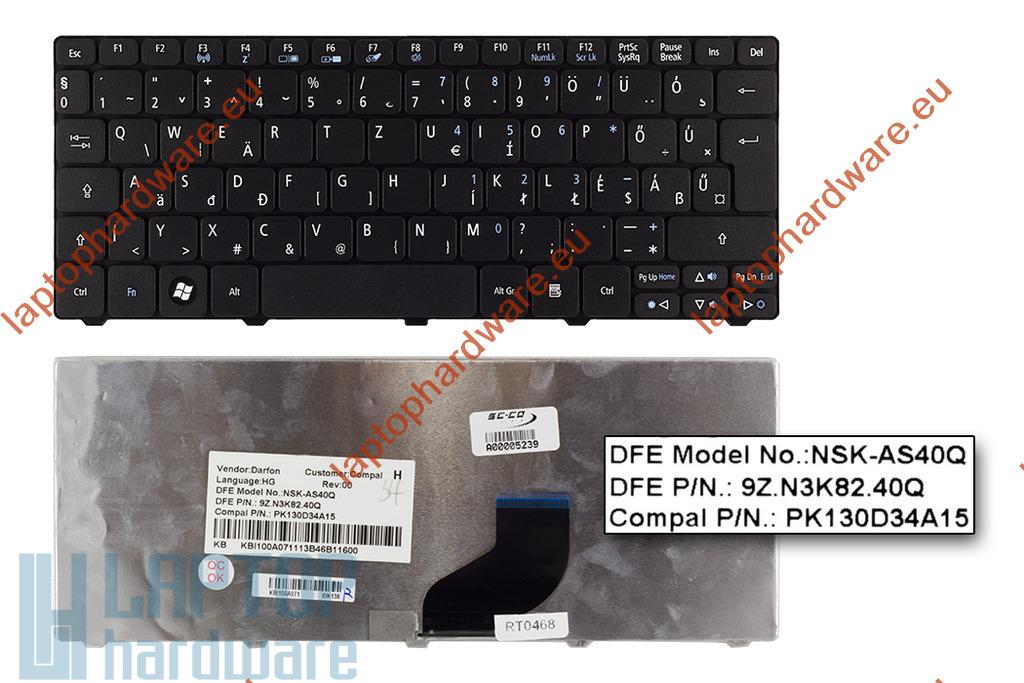 Acer Aspire One A532h, D255, D260 használt magyar fekete laptop billentyűzet (NSK-AS40Q)