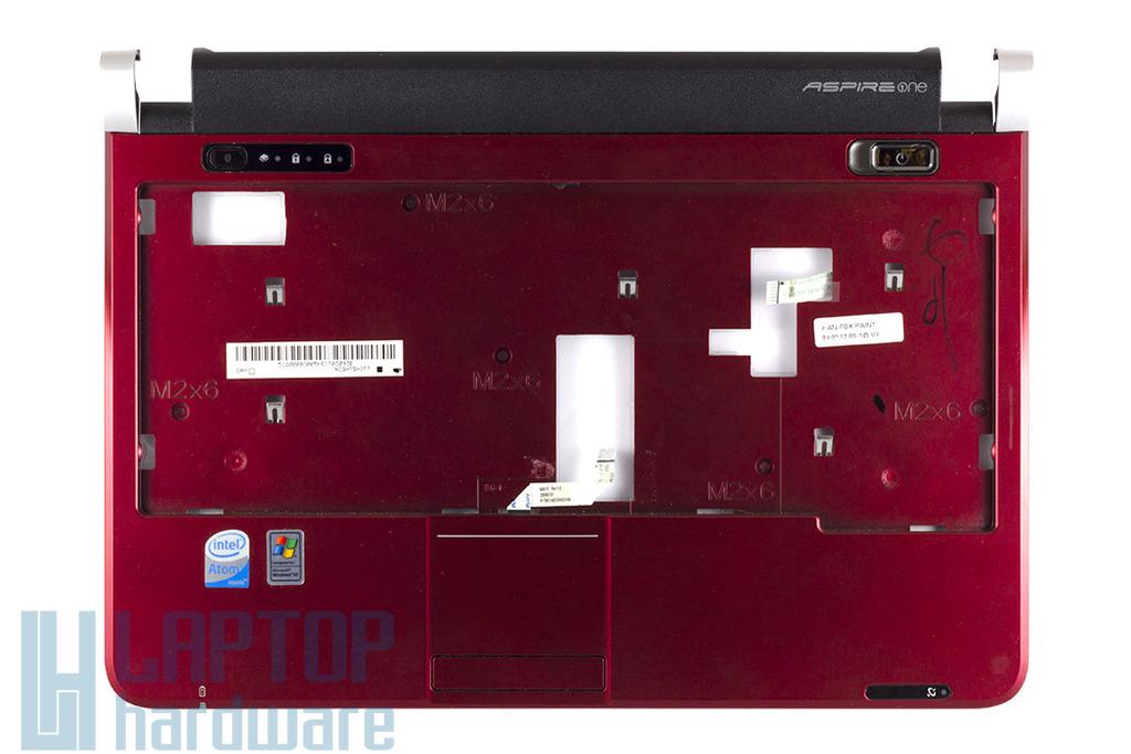 Acer Aspire One D150 bordó használt felső burkolat touchpadal, AP06F000C30