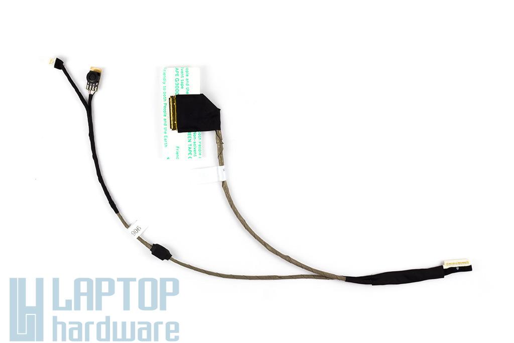 Acer Aspire One D250, KAV60 laptophoz gyári új kijelző kábel, nagy webkamera csatlakozós (50.S6702.001)