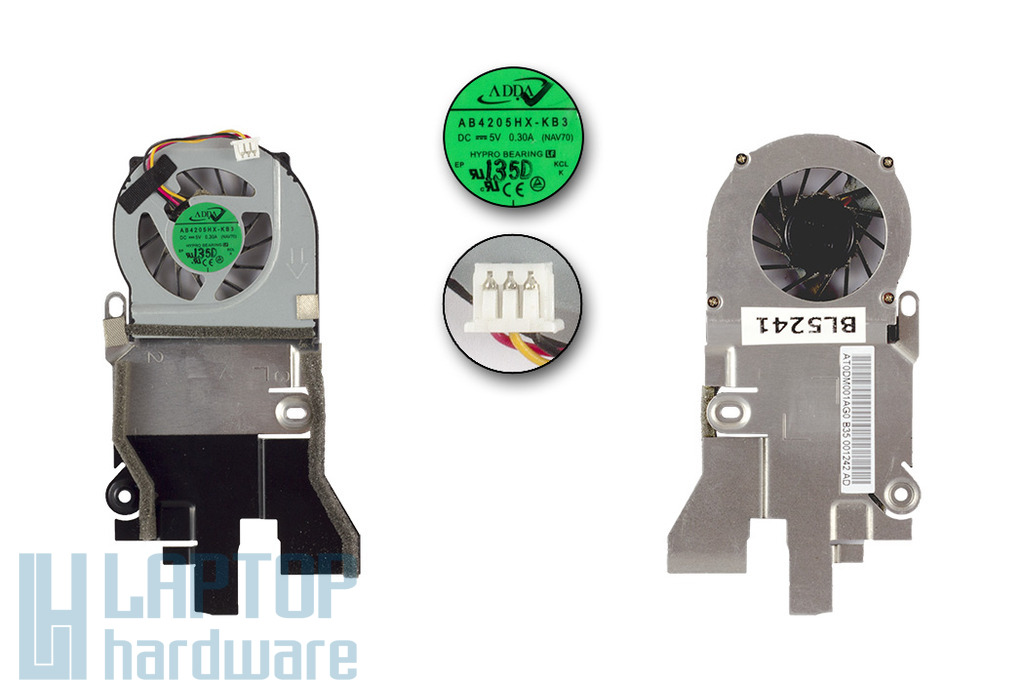 Acer Aspire One D255, D260, PAV70 gyári új laptop hűtő ventilátor (AT0DM001AG0)