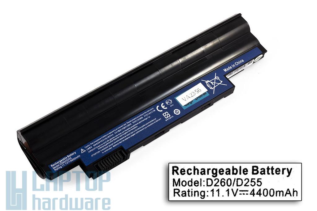 Acer Aspire One 522, 722, D255, D260, D270 helyettesítő új 6 cellás laptop akku/akkumulátor (AL10A31)