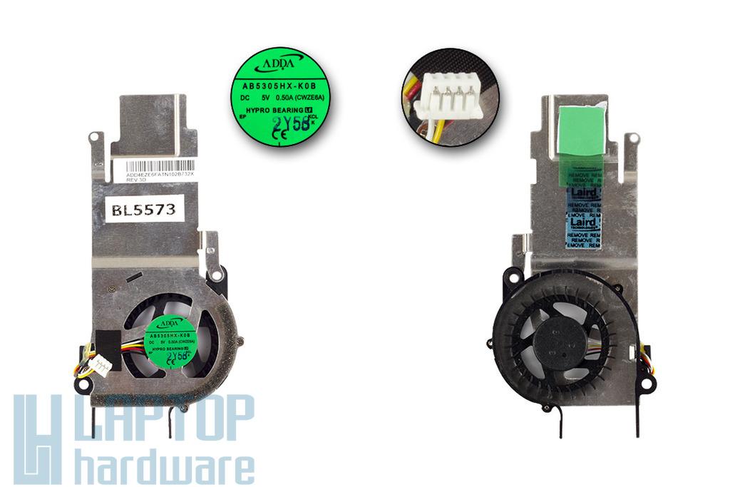 Acer Aspire One D257, ZE6 gyári új hűtő ventilátor (AB5305HX-K0B)