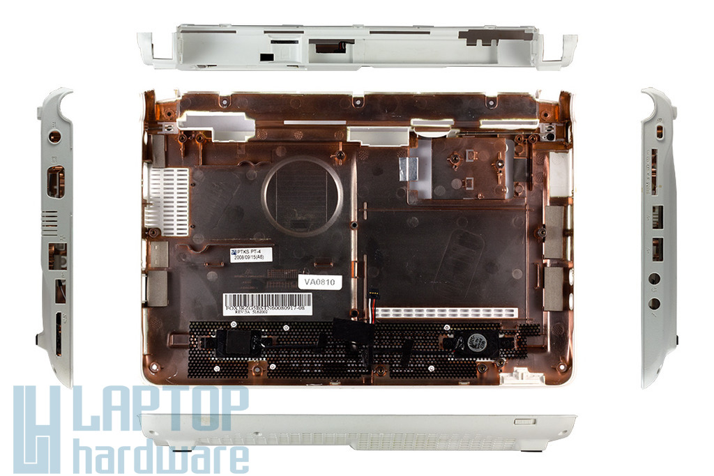 Acer Aspire One ZG3, ZG5 fehér alsó fedél, bottom case, FOX3RZG5BST