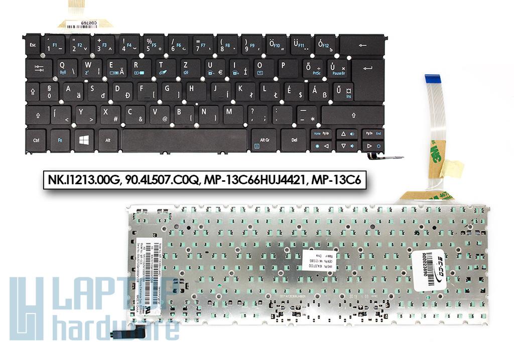 Acer Aspire S3-392 gyári új magyar háttér-világításos fekete laptop billentyűzet (NK.I1213.00G)