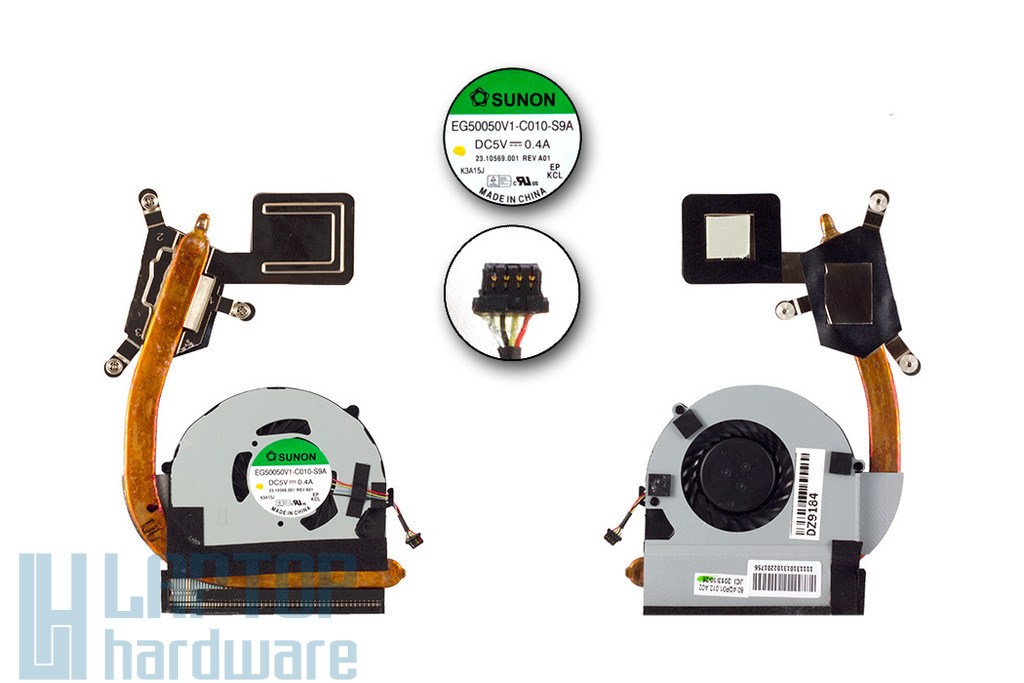 Acer Aspire S3-951, S3-391, S3-331 laptophoz gyári új komplett hűtőventilátor egység (60.RSF01.003)