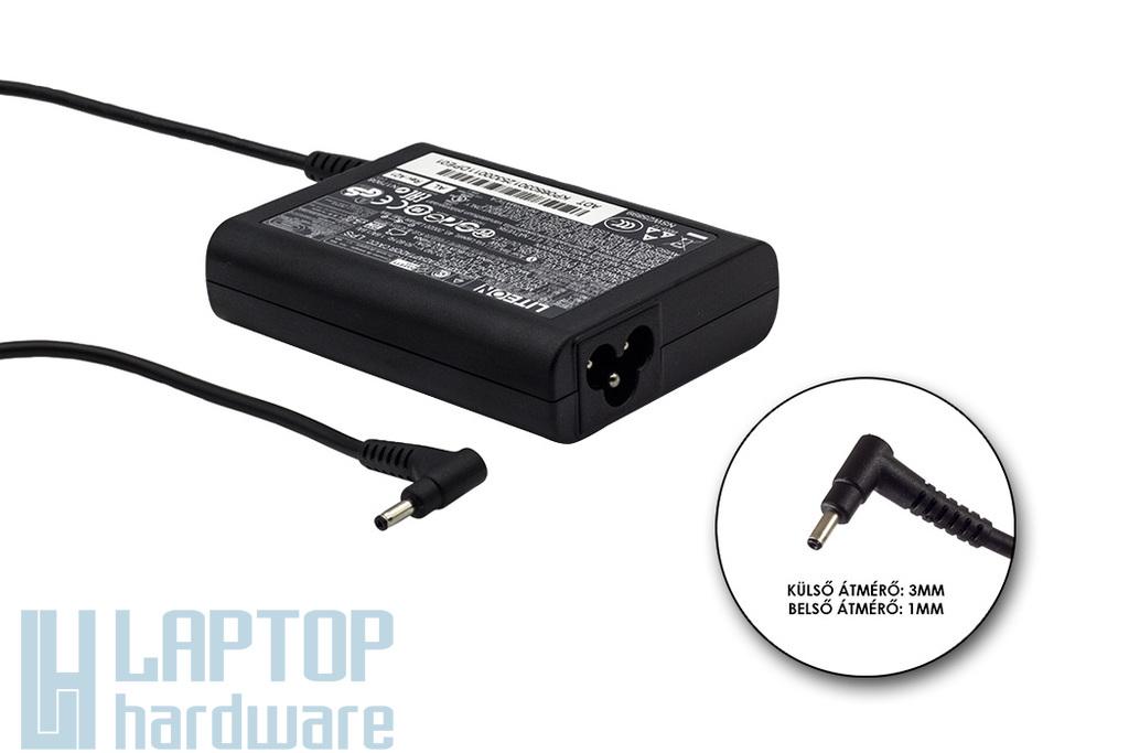Acer Aspire UltraBook, Iconia Tab 19V 3.42A 65W 3mm/1mm gyári új fekete töltő (ADT11.00Q, PA-1650-80, KP.06503.005)
