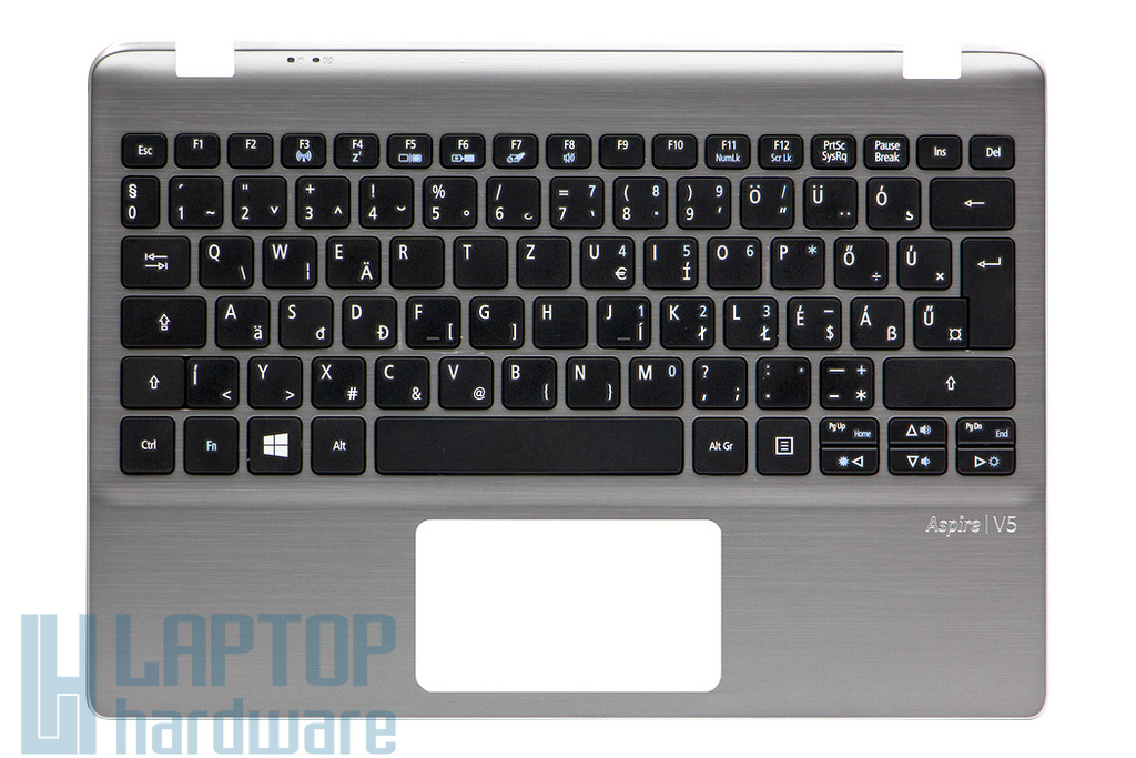 Acer Aspire V5-122P, V5-132P gyári új magyar ezüst laptop billentyűzet modul (60.M8WN1.013)