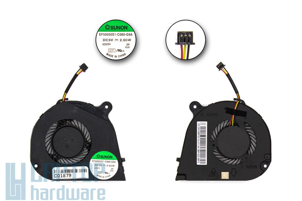 Acer Aspire V5-131, V5-171 gyári új laptop hűtő ventilátor (EF50050S1-C060-G9A, 23.SGYN2.001)