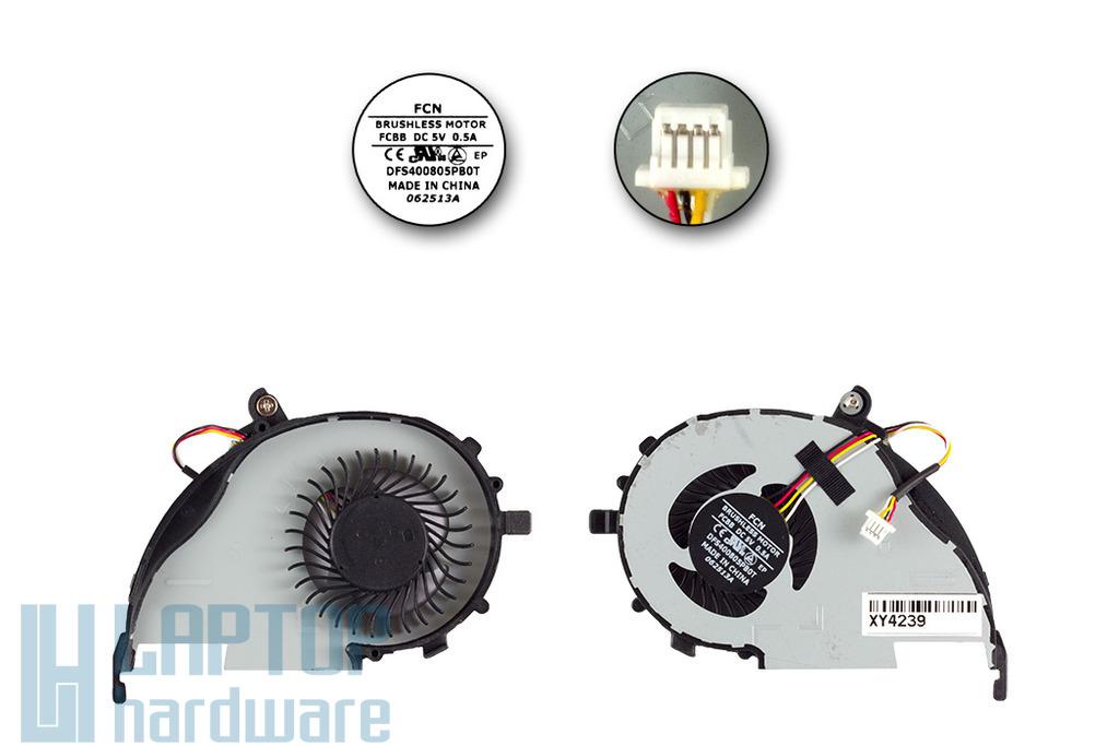 Acer Aspire V5-472, V5-572G, V7-582PG laptophoz gyári új CPU hűtő ventilátor (DFS400805PB0T)