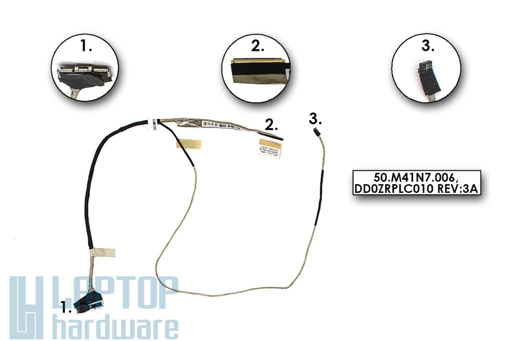 Acer Aspire V5-551, V5-551G gyári új laptop LCD kijelző kábel (50.M41N7.006)