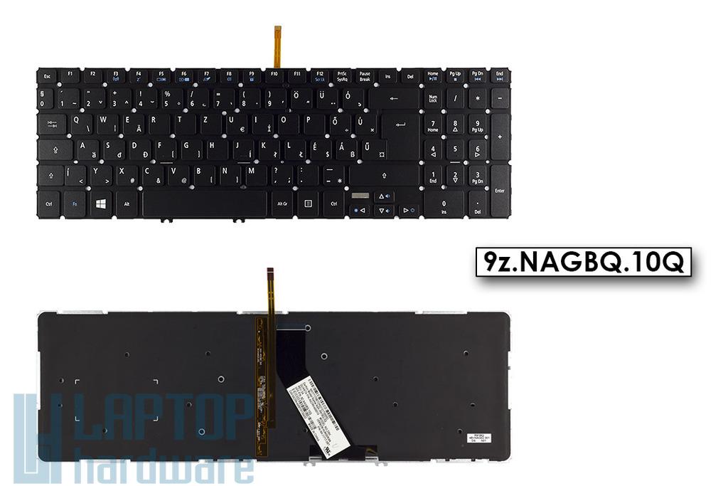 Acer Aspire V5-552, V5-572, V5-573, V7-581, V7-582  gyári új fekete magyar nyelvű háttérvilágításos laptop billentyűzet, 9z.NAGBQ.10Q