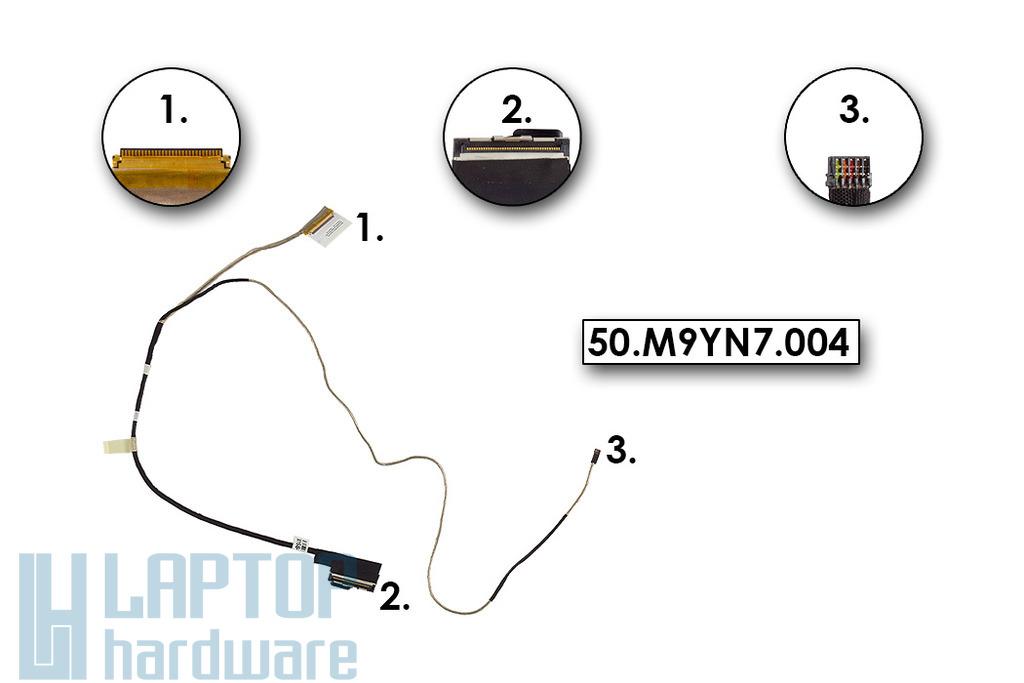 Acer Aspire V5-552, V5-572, V7-581 használt laptop LCD kijelző kábel (50.M9YN7.004)