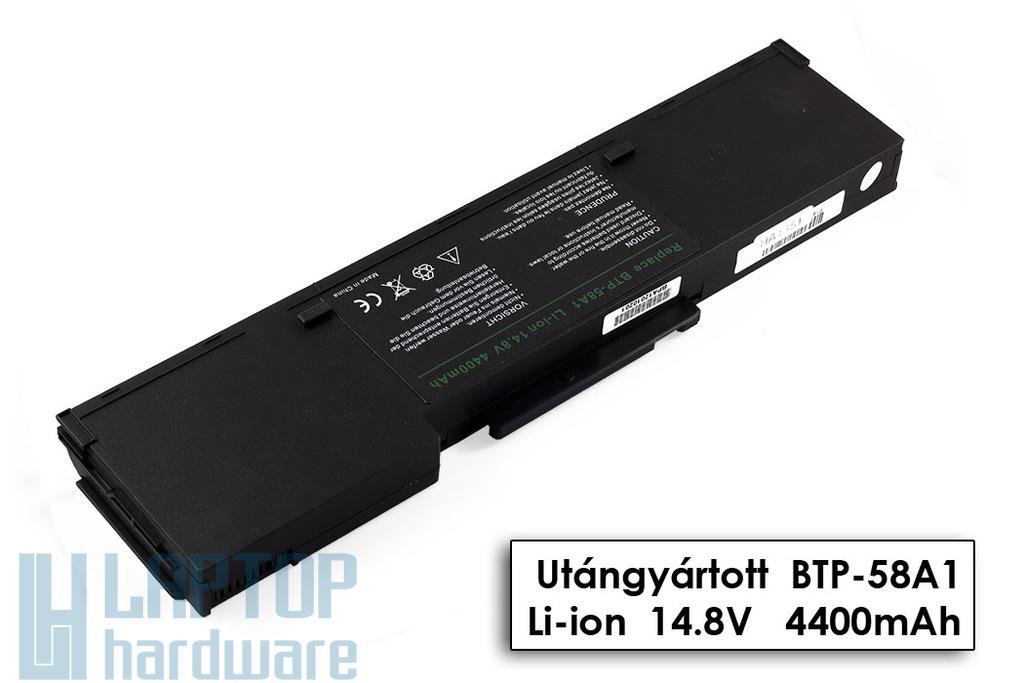 Acer Aspire 1360, 1520, Travelmate 2000 helyettesítő új 8 cellás laptop akku/akkumulátor (BTP-58A1)