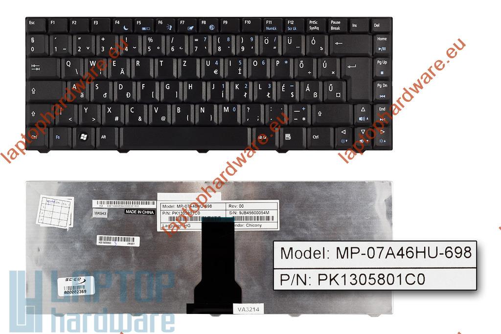 Acer eMachines E520, E720 használt magyar laptop billentyűzet, MP-07A46HU-698, KB.I1400.063