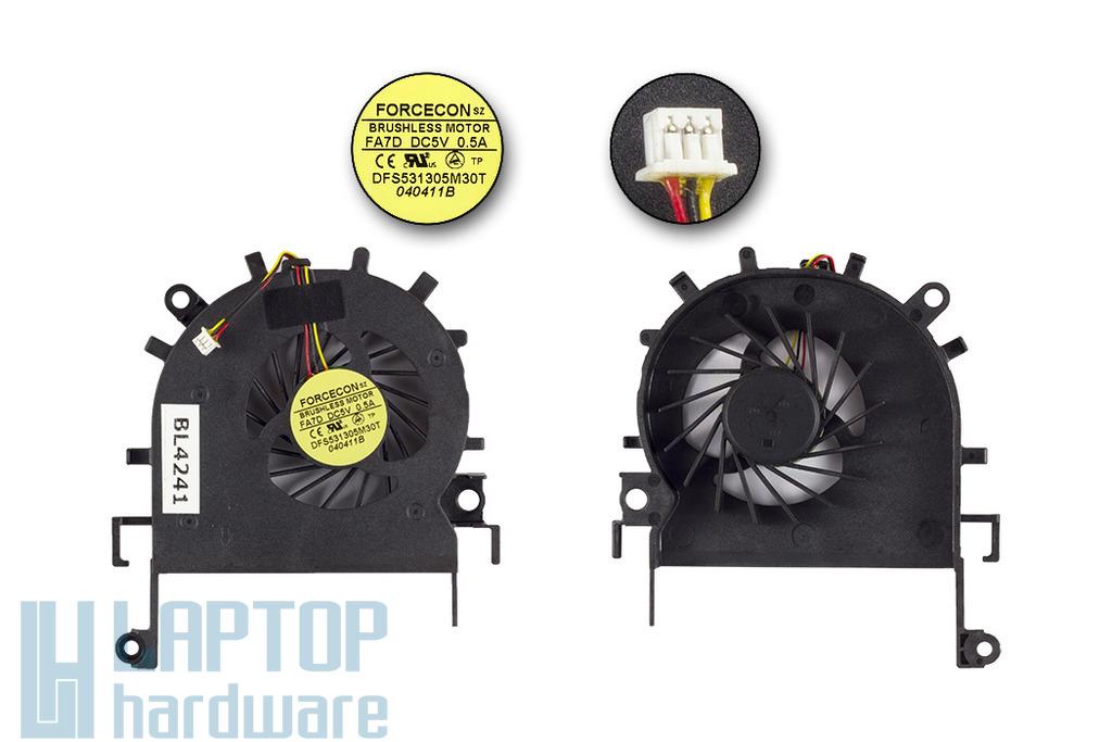 Acer eMachines E732, E732Z, E732G, E732ZG gyári új hűtő ventilátor, DFS531305M30T