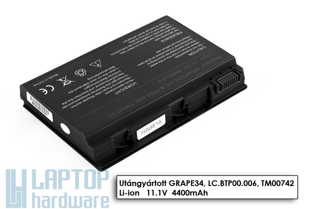 Acer Extensa 5220, 5620, Travelmate 5220 6 cellás helyettesítő új laptop akku/akkumulátor (TM00751)