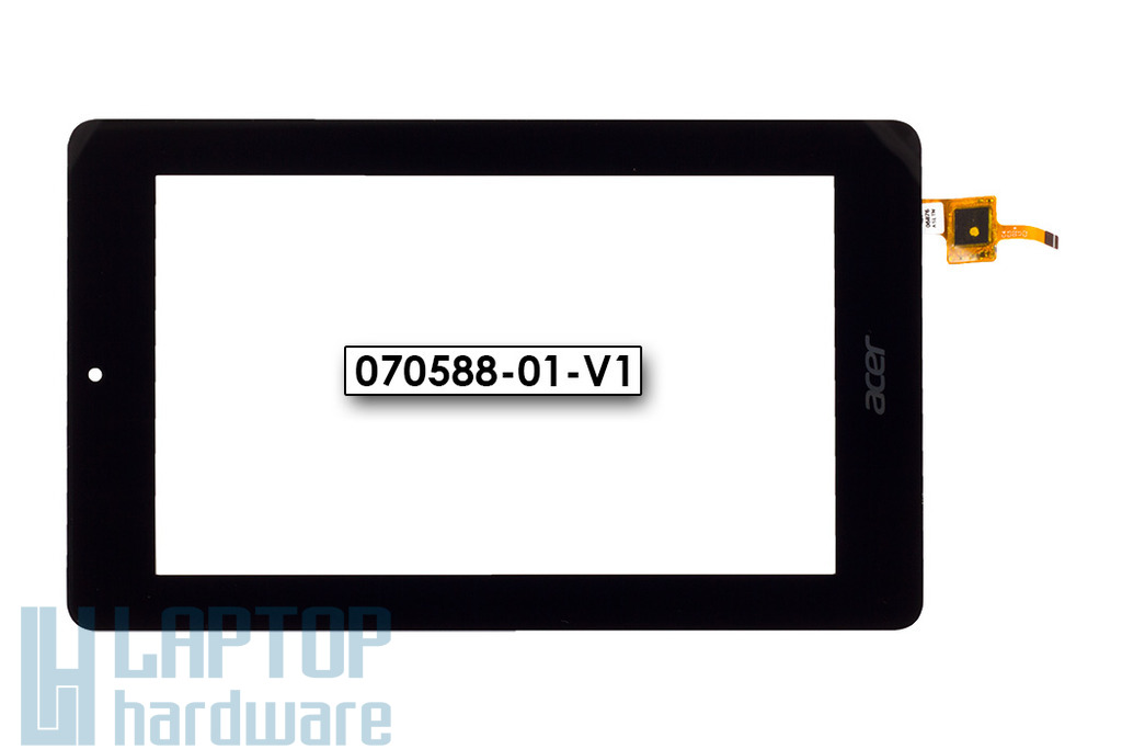 Érintő panel, touchscreen (90x153mm) Acer Iconia One 7 (B1-730) tablethez (070588-01-V1)