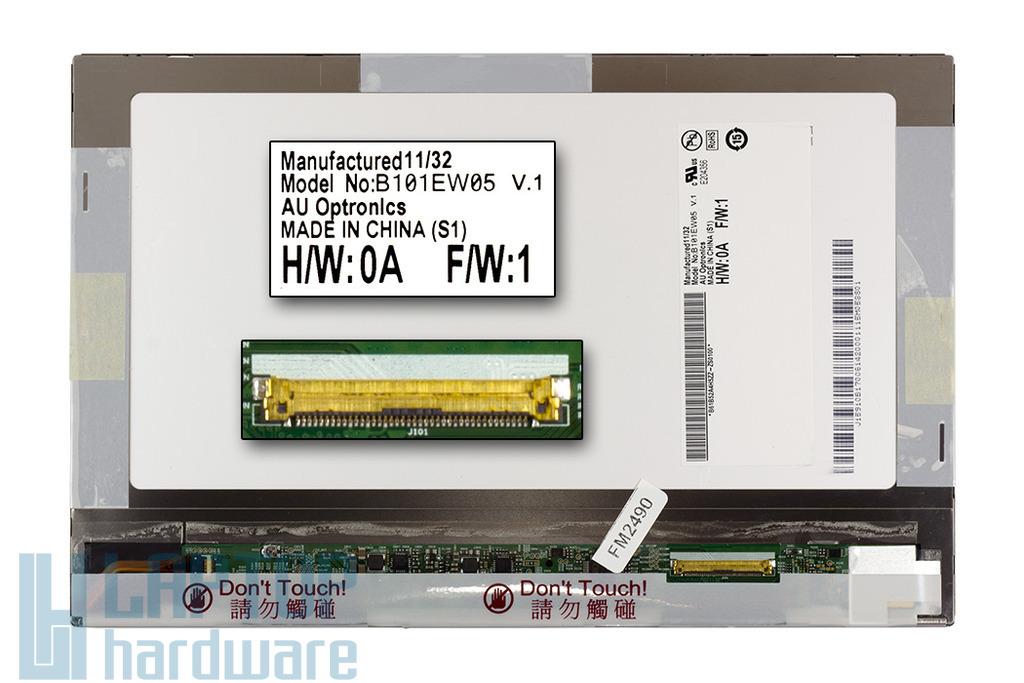 Gyári új fényes 10.1'' (1280x800) LED tablet kijelző (csatlakozó: 40 pin - bal)
