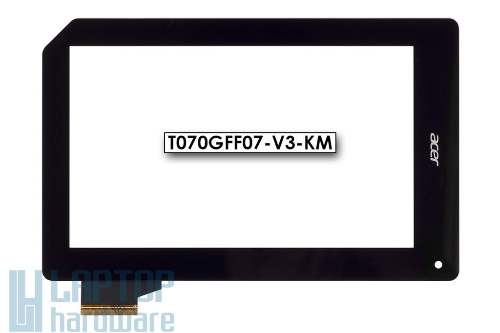 Érintő panel, touchscreen Acer Iconia Tab B1-A71, B1-071 tablethez (T070GFF07-V3-KM)