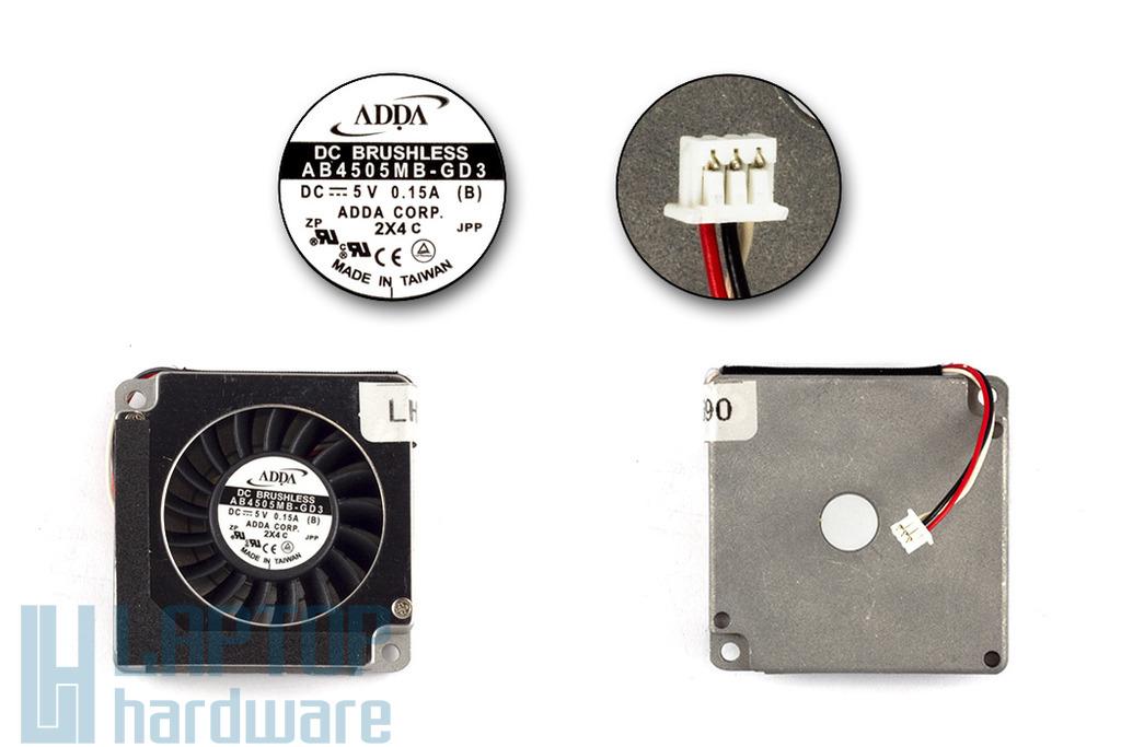 Acer Travelmate 200, 210, 220, 260, 520 gyári új laptop hűtő ventilátor (AB4505MB-GD3)