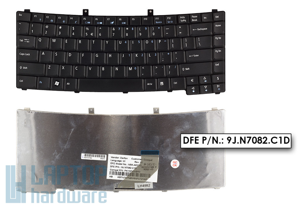 Acer Travelmate 2200, 2700, 4280 gyári új angol fekete laptop billentyűzet (NSK-AEC1D)
