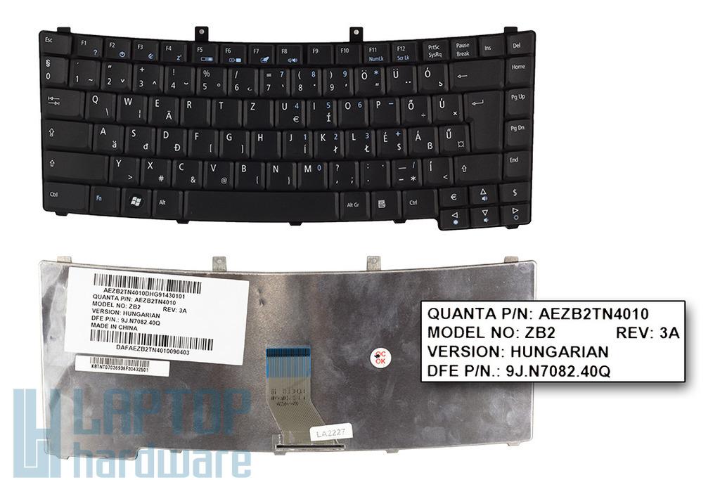 Acer Travelmate 2300, 2410, 4000 gyári új magyar laptop billentyűzet (AEZL1TN4010, KB.TNT07.036)