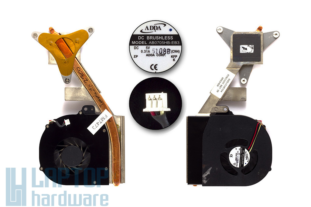Acer Travelmate 2300, 4000LCi komplett használt laptop hűtő ventilátor egység (36ZL1TMTN24 , AB0705HB-EB3)