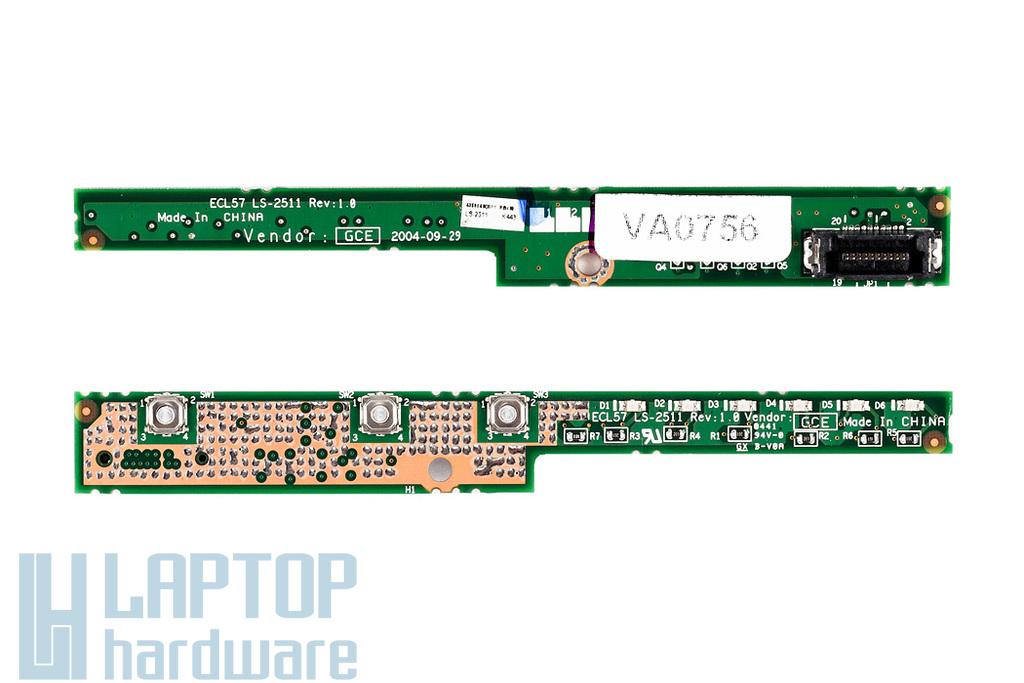Acer Travelmate 2350, 2358LCi, 4050, 4052LCi gyári új bekapcsoló panel ECL57 LS-2511