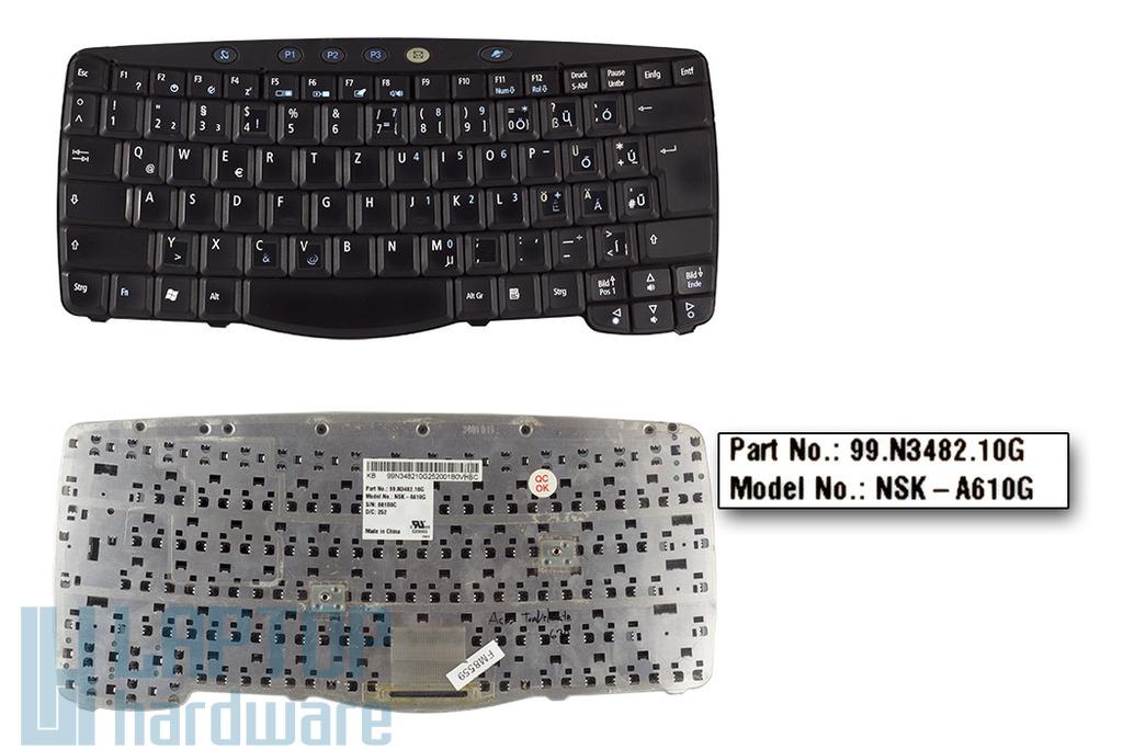 Acer Travelmate 610, 630 használt magyarított laptop billentyűzet (NSK-A610G, 99.N3482.10G)
