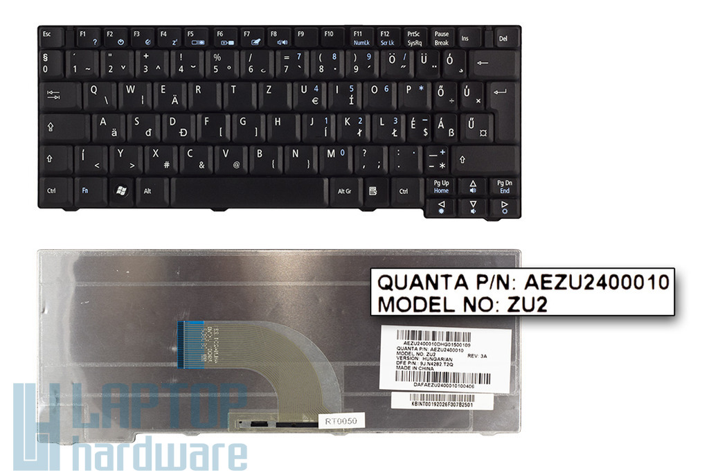 Acer Travelmate 6252, 6290, 6291, 6292 gyári új magyar fekete laptop billentyűzet (NSK-A9V0Q, KB.INT00.192)