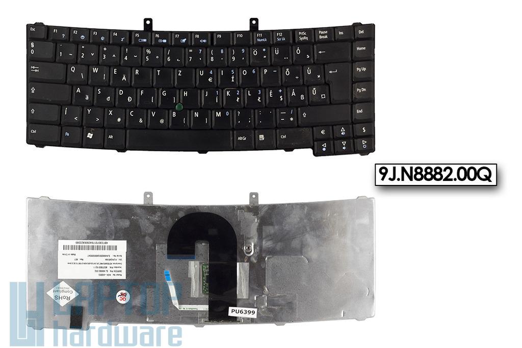 Acer Travelmate 6410, 6452, 6460 használt magyar fekete billentyűzet, 9J.N8882.00Q